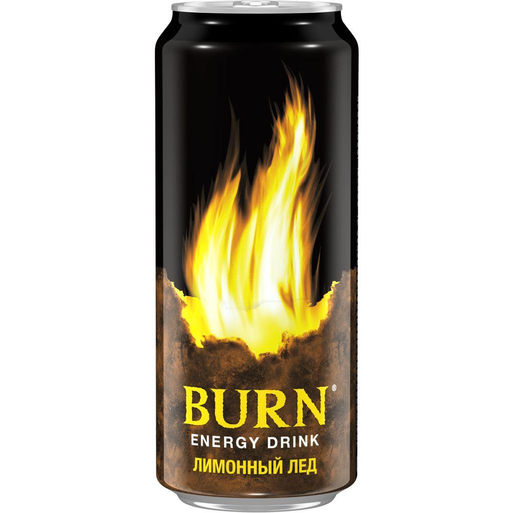 Энергетический напиток  Burn  лимонный мед 0.449мл.