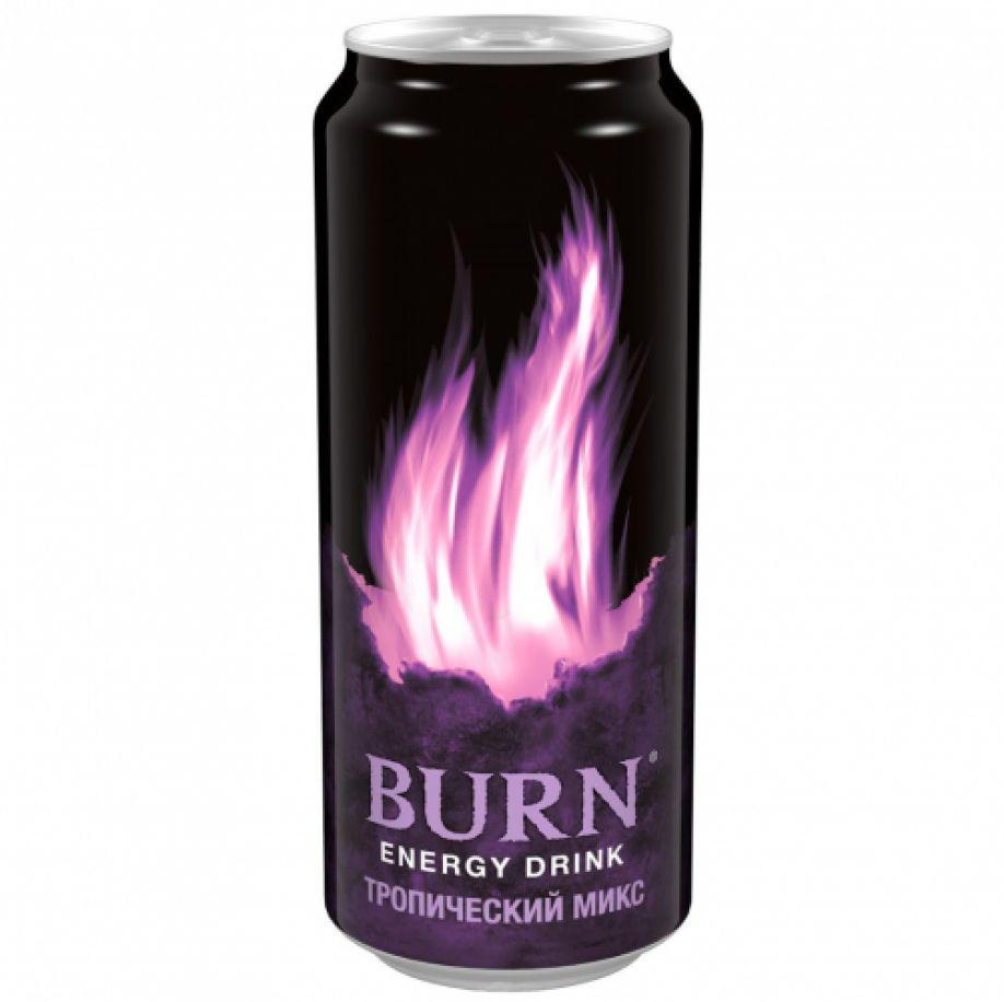 Энергетический напиток  Burn  тропический микс 0.449л.