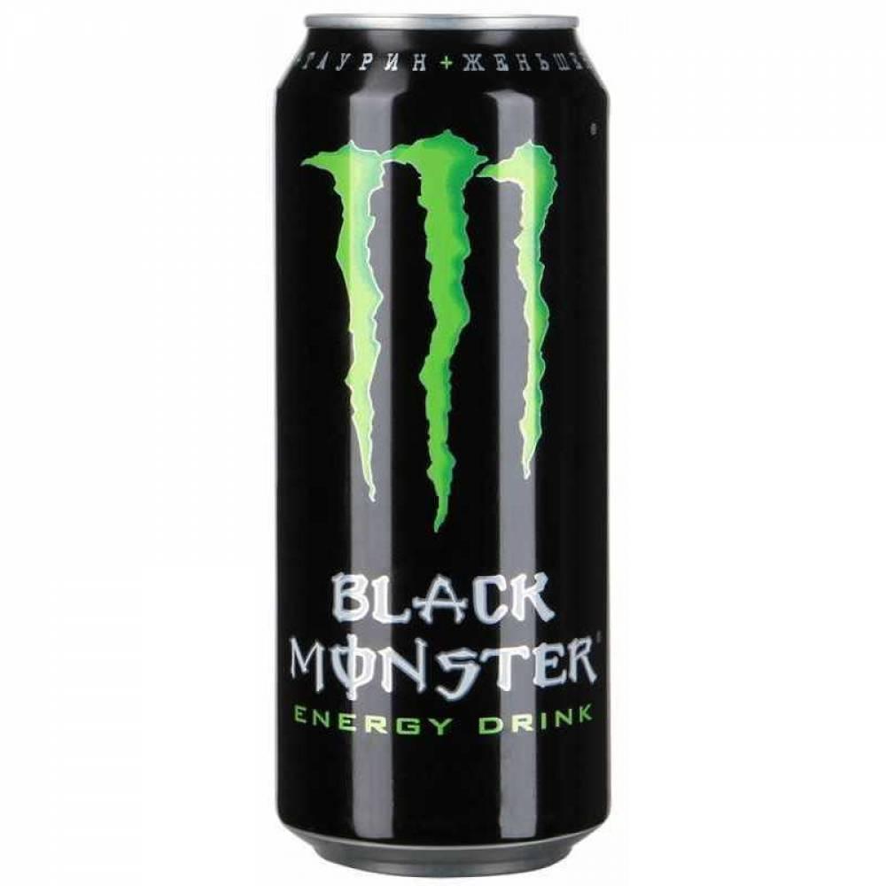 Энергетический напиток  Блэк Монстр Энерджи 0.449л.