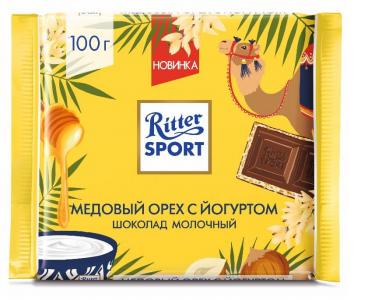Шоколад молочный  Риттер Спорт  медовый орех с йогуртом 100гр.