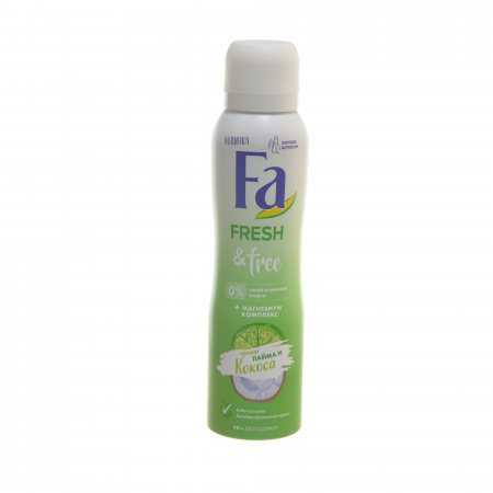 Дезодорант-спрей  Fa  Fresh &Free Лайм-кокос с магний комплексом 150мл.