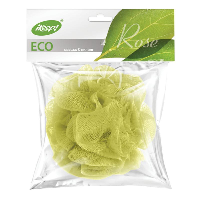 Мочалка для тела из сетки  Ikeep  роза 1шт.