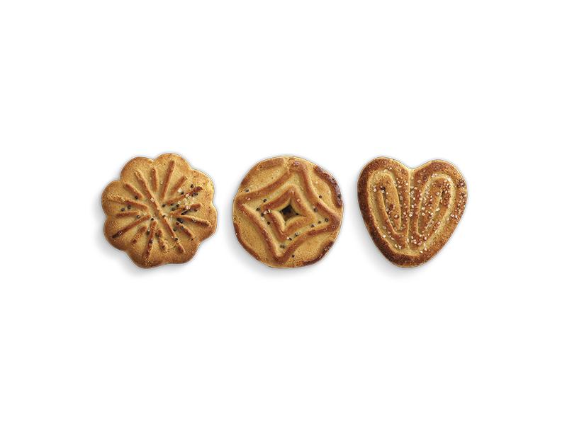 Печенье сахарное  Обояшки  с посыпкой маком 4кг.