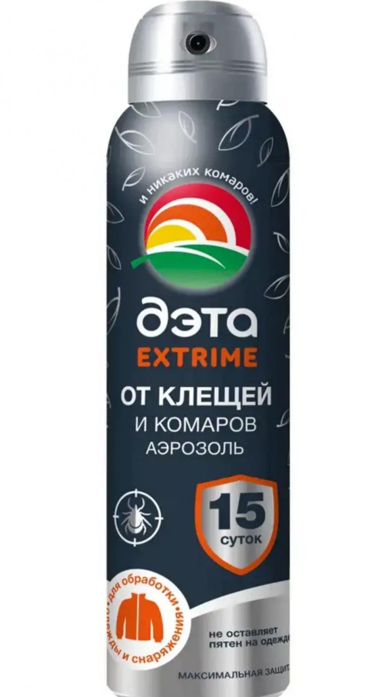 Аэрозоль от клещей и комаров ДЭТА Extrime  150 мл