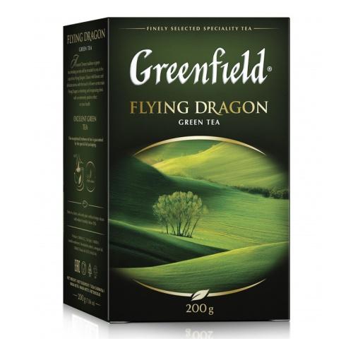 Чай зеленый  Гринфилд  Флаинг Драгон 200гр.