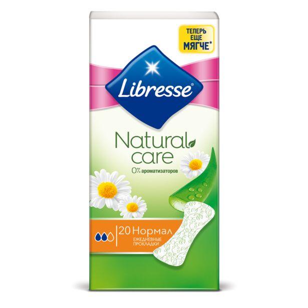 Ежедневные прокладки Libresse  Natural Care Нормал  20 шт. Женские гигиенические прокладки Libresse Natural Care Нормал 20 шт. Ежедневные прокладки Libresse  Natural Care Нормал  20 шт.