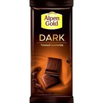 Шоколад  Альпен Гольд  Дарк темный 80 гр