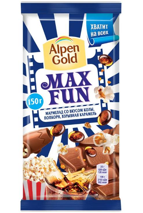 Шоколад  Альпен Гольд  максфан с мармеладом
