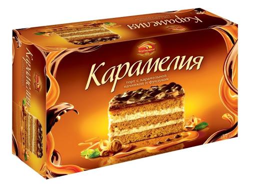 Торт  Камелия  с карамельной начинкой и фундуком 400гр.