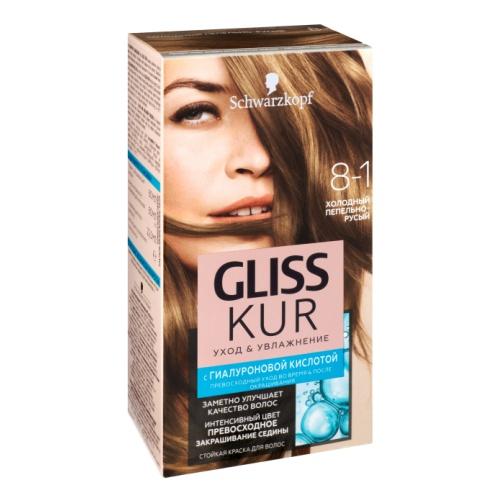 Краска для волос Gliss Kur Уход и увлажнение Холодный пепельно-русый тон 8-1