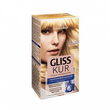 Осветлитель для волос Gliss Kur Уход и увлажнение платиновый ультраблонд тон L9