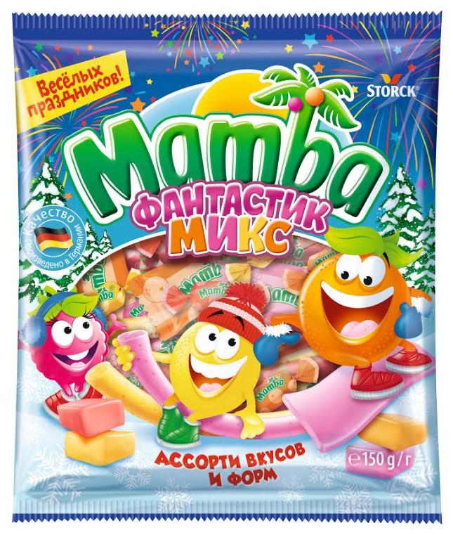 Жевательные конфеты  Фантастик  микс 150гр.