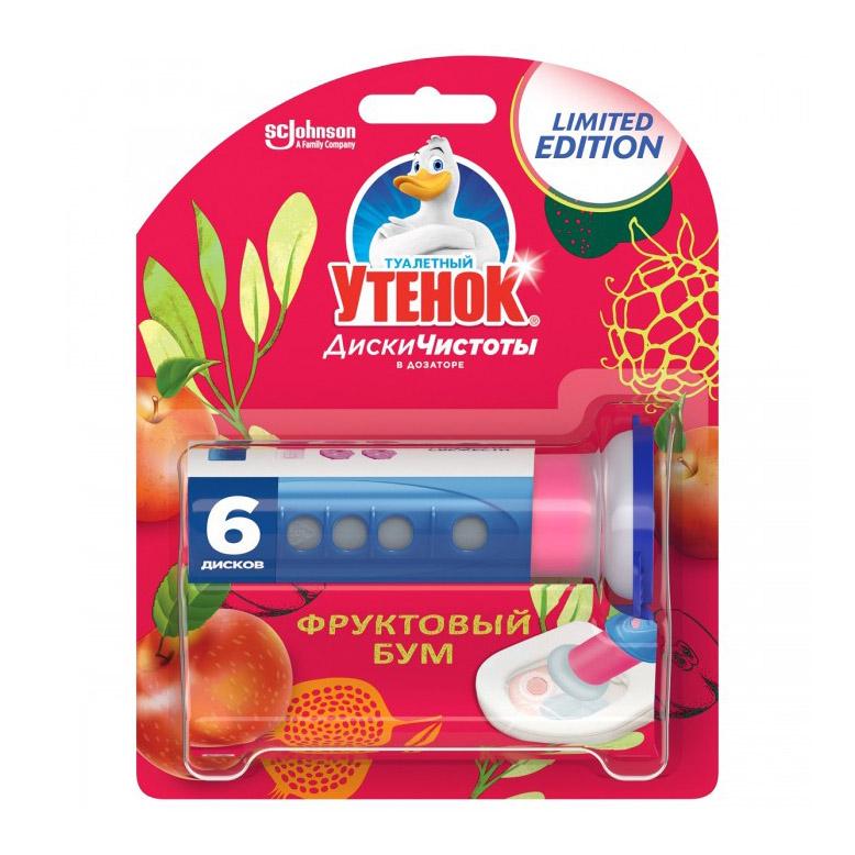 Диски чистоты туалетный утенок 38 гр фруктовый бум