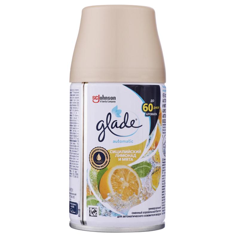 Сменный баллон освежитель воздуха  Glade  сицилийский лимонад 269мл.