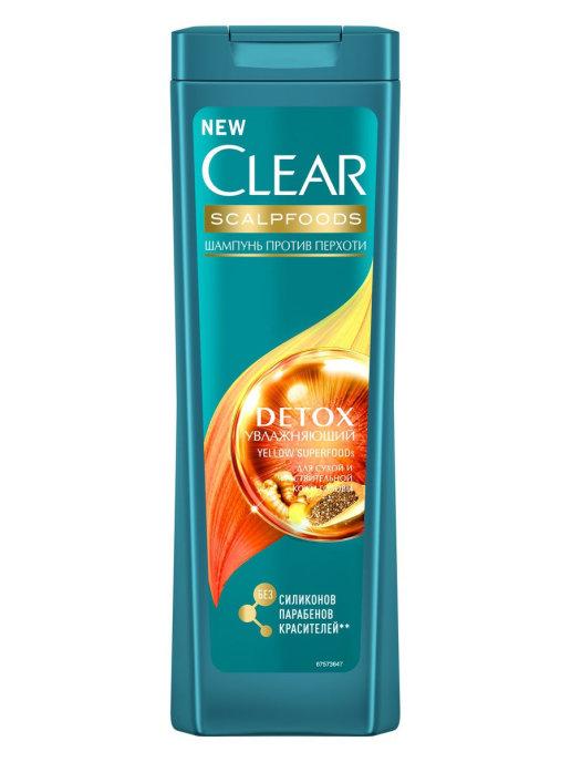 CLEAR шампунь-детокс против перхоти ежедневный 400 мл