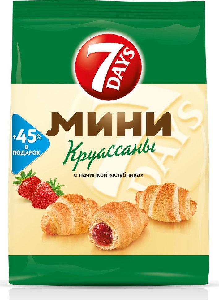 7 DAYS MINI КРУАССАНЫ СО ВКУСОМ КЛУБНИКА 300 ГР