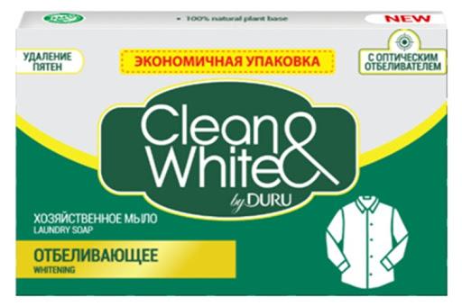 """Хозяйственное мыло """"DURU"""" Clean  & White Отбеливающее 125 гр."""