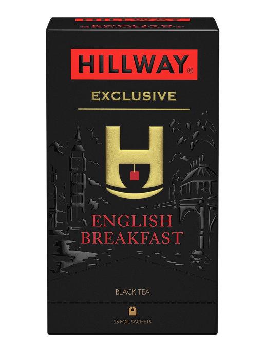 ЧАЙ ЧЕРНЫЙ БАЙХОВЫЙ ЦЕЙЛОНСКИЙ 'ENGLISH BREAKFAST' 'HILLWAY'2Г*25*12 САШЕТ