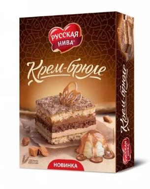 ТОРТ КРЕМ-БРЮЛЕ 400ГР*12ШТ РУССКАЯ НИВА