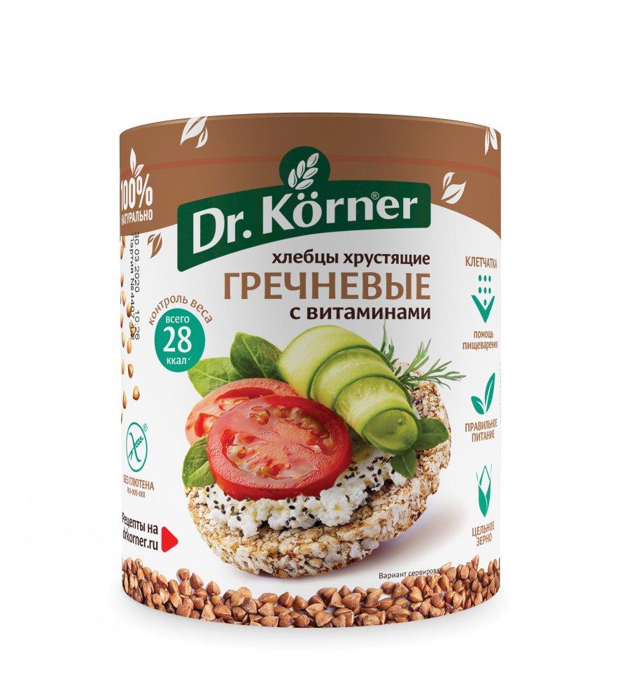 Хлебцы Dr. Korner  Гречневые с витаминами  100гр.