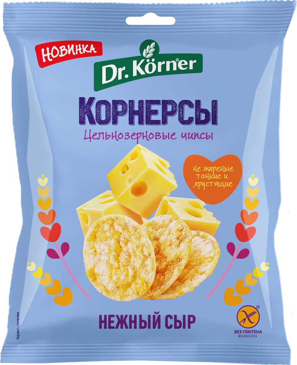 Чипсы Dr. Korner цельнозерновые с сыром 50гр.
