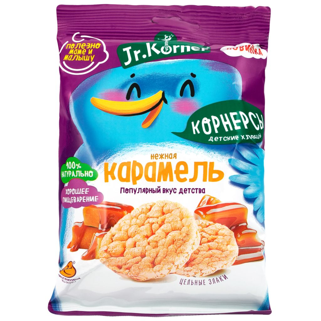 Рисовые мини хлебцы Jr. Krner Карамельные 30гр.