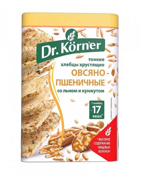 ХЛЕБЦЫ DR. KORNER ОВСЯНО-ПШЕНИЧНЫЕ СО СМЕСЬЮ СЕМЯН 100ГР*20ШТ