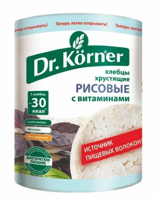 ХЛЕБЦЫ DR. KORNER РИСОВЫЕ С ВИТАМИНАМИ 100ГР*20ШТ