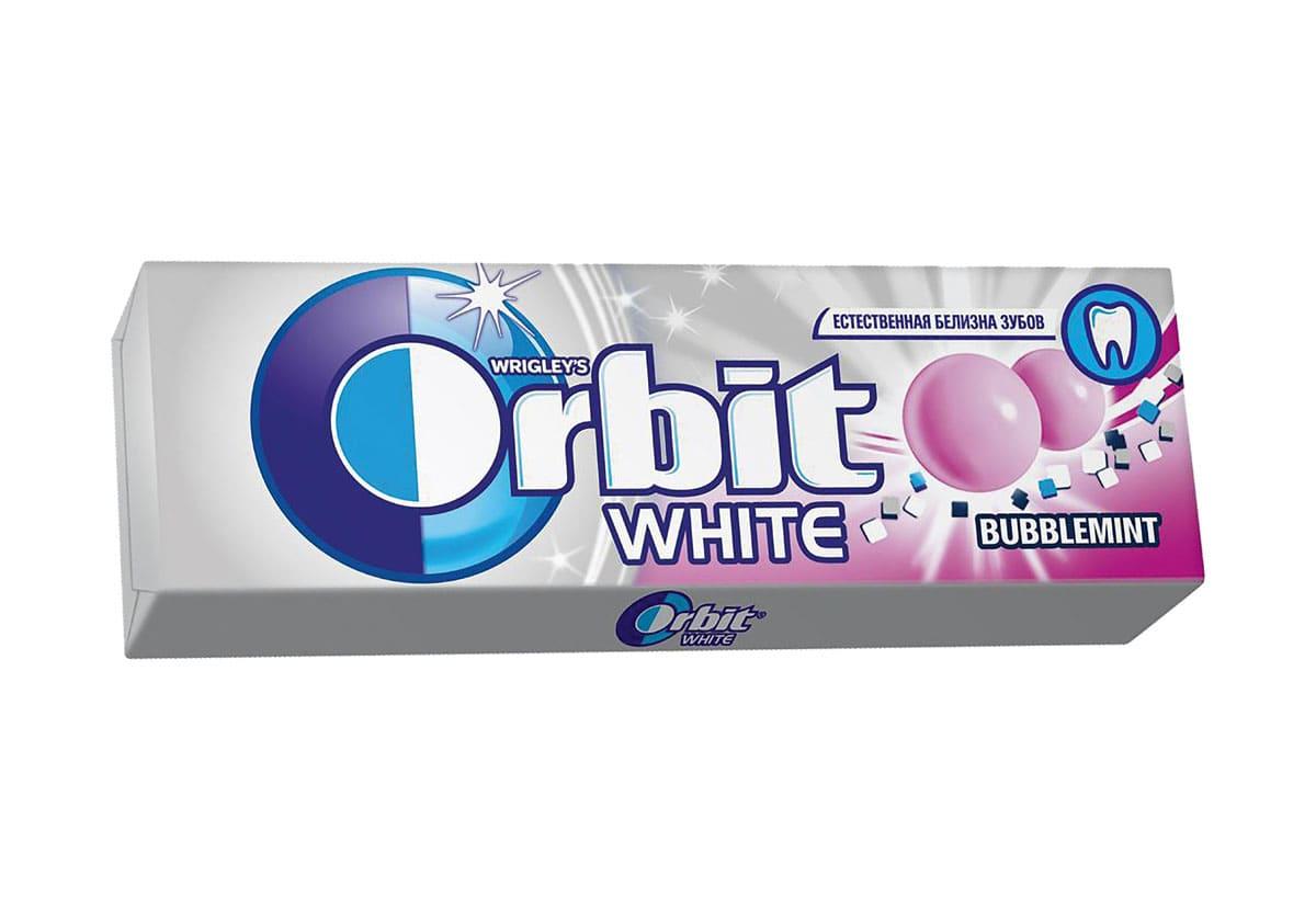 Орбит белоснежный баблминт