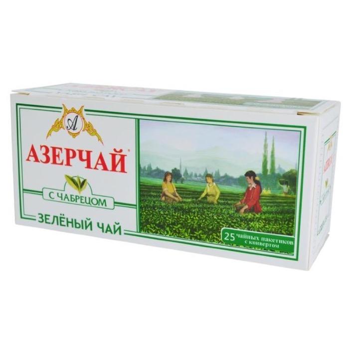ЧАЙ AZERCAY TEA ЗЕЛЕНЫЙ С ЧАБРЕЦОМ (КОНВ)25ПАК*1