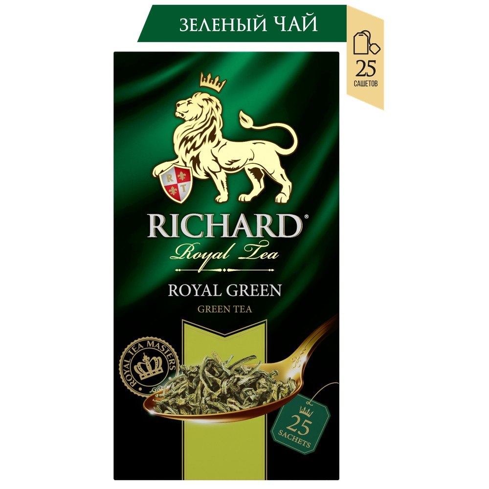 Чай Richard 'Royal Green' зеленый 25 сашет