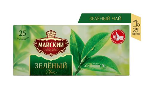 Чай МАЙСКИЙ 'Зеленый' 25 пакетиков