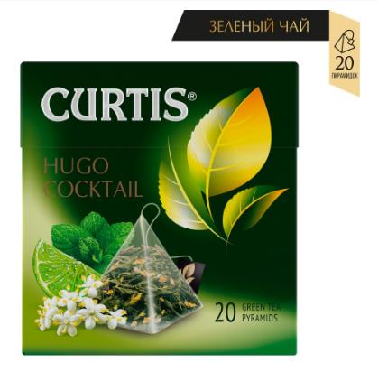 """Чай Curtis Hugo Cocktail"""" зеленый ароматизированный средний лист 20 пирамидок"""""""
