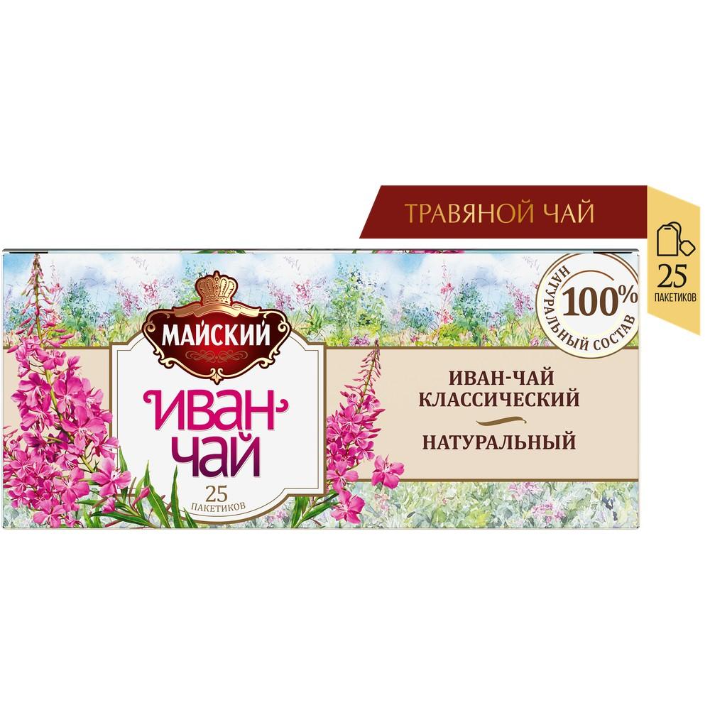 Чайный напиток МАЙСКИЙ 'Иван-чай Классический' 25 пакетиков