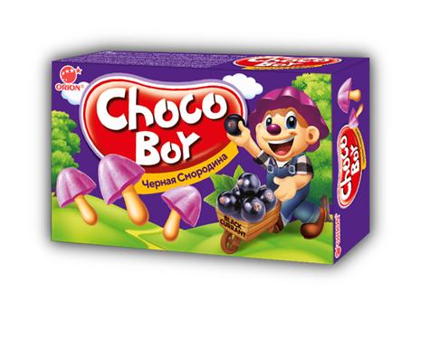 Печенье Choco Boy Чоко Бой Черная смородина 135гр.