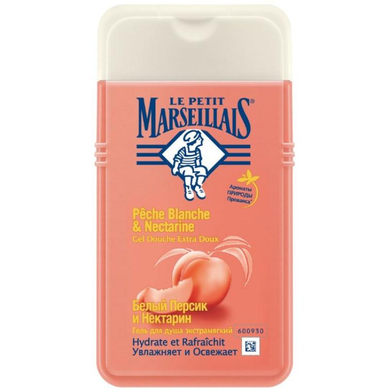 BIO гель для душа LE PETIT MARSEILLAIS® белый персик и нектарин 250мл.