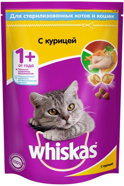Вискас подушечки для стерилизованных кошек