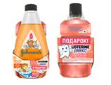 СМОТКА: Детский гель для душа JOHNSON'S® KIDS 300мл + Ополаскиватель для рта детский LISTERINE® SMART RINSE ягодная свежесть 250мл.