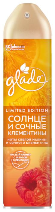 Освежитель воздуха GLADE 300 мл солнце и сочные клементины