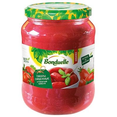 Томаты очищенные в томатной мякоти 720 мл