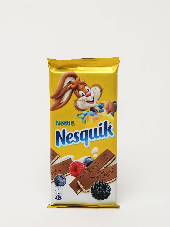 Шоколад несквик молочный с начинкой ягоды/злаки 100 гр