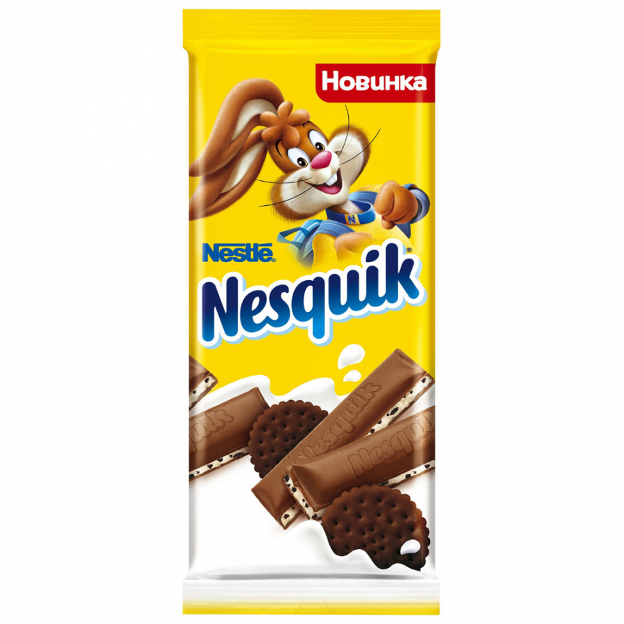 Шоколад несквик молочный какао/печенье 95гр