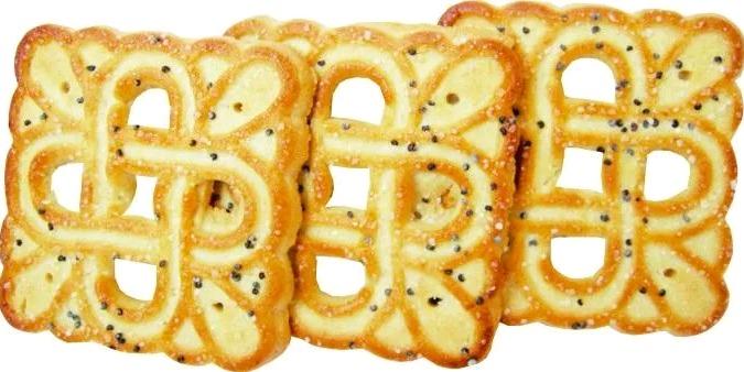 Печенье сахарное  'Восточные вкусы' с посыпкой маком 500 гр