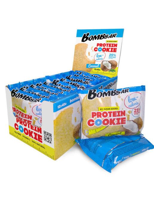 Низкокалорийное печенье Bombbar кокос 40гр.