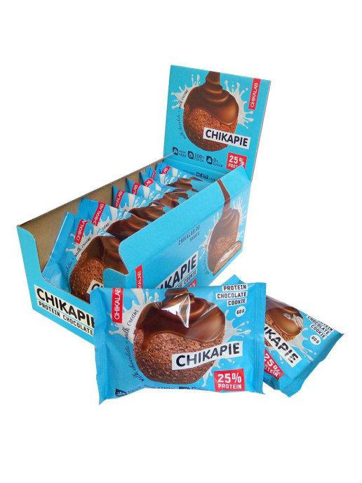 Протеиновое печенье Chikalab шоколад с начинкой 60гр.