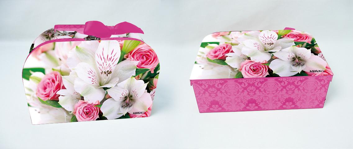 Черный чай в кейсе 'ABIGAIL'(Розы с орхидеями) 85гр