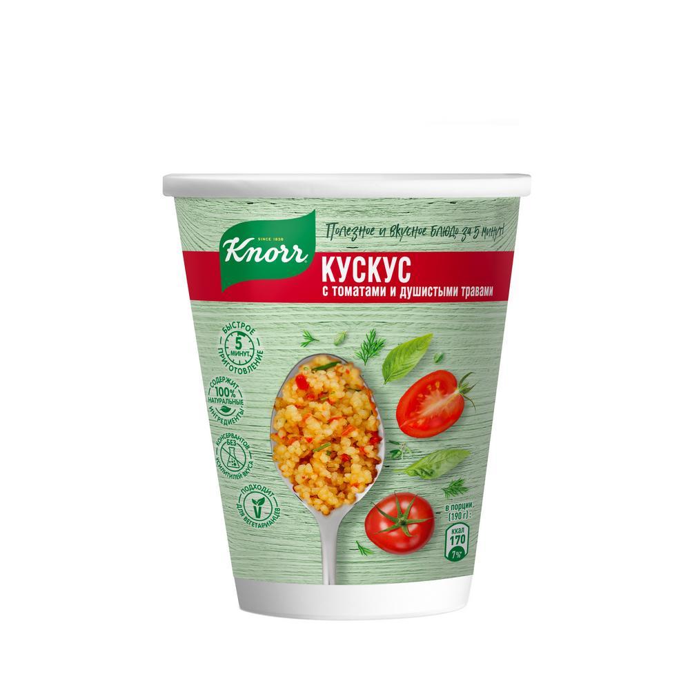 Knorr каша моментального приготовления Кускус с томатами и душистыми травами 50 гр