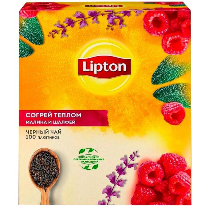 Чай черный 'Липтон' Согрей теплом 100*1