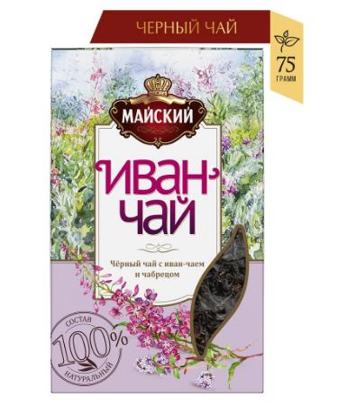 Чай МАЙСКИЙ 'Иван-чай с черным чаем и чабрецом' 75г