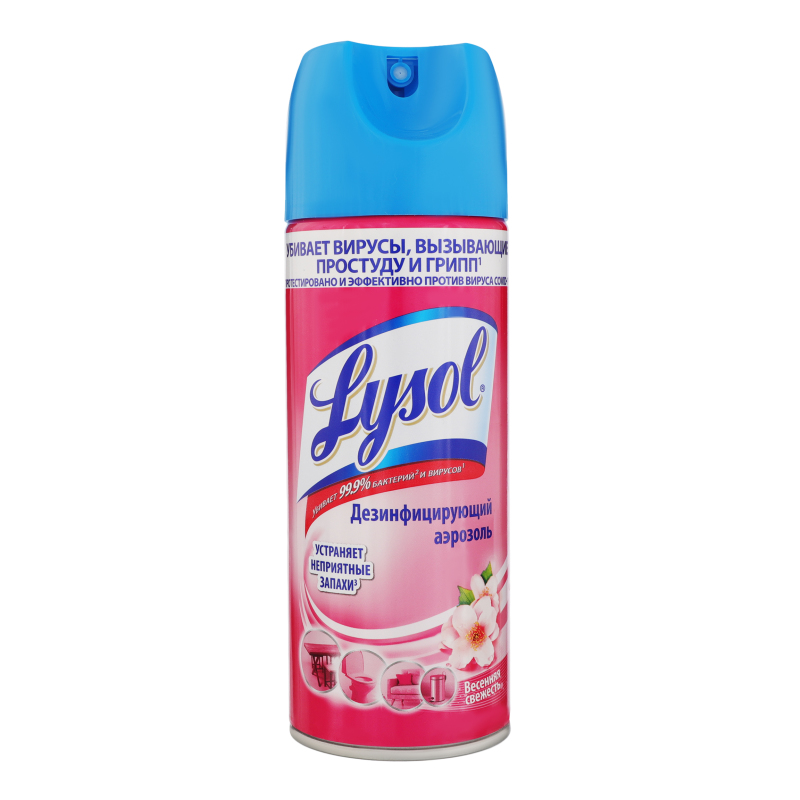 Дезинфицирующий аэрозоль 'Lysol'  400мл Весенняя свежесть 400мл